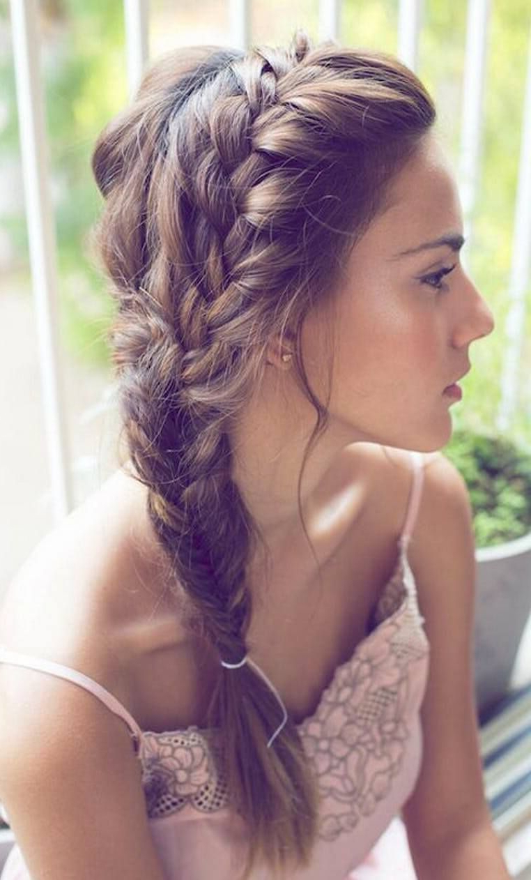 Well Known Fishtail Side Braid Hairstyles With Regard To 25 Effortless Side Braid Hairstyles To Make You Feel Special (View 11 of 20)