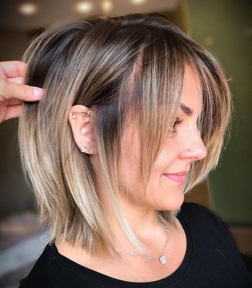 Well Known Fun Choppy Bob Hairstyles With A Deep Side Part Throughout 60 Fun And Flattering Medium Hairstyles For Women (View 6 of 20)