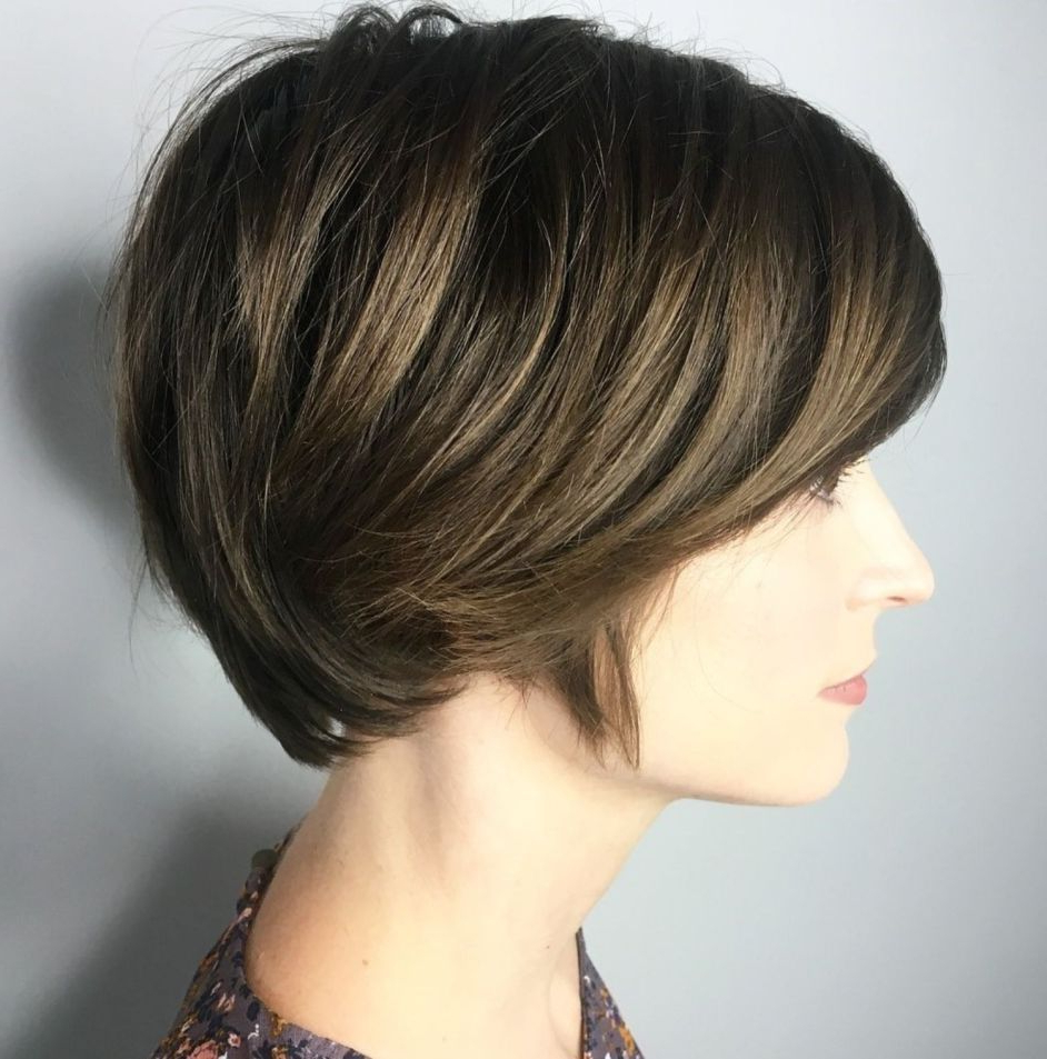 Well Known Gorgeous Bob Hairstyles For Thick Hair Intended For 60 Gorgeous Long Pixie Hairstyles (View 18 of 20)