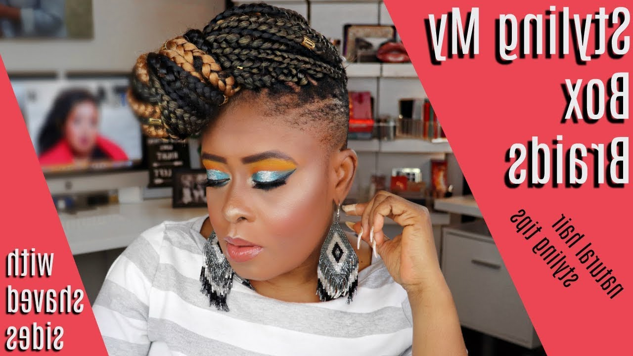 Well Known Side Shaved Cornrows Braids Hairstyles Throughout 30 Exotic Braided Hairstyles With Shaved Sides For Women (Gallery 20 of 21)