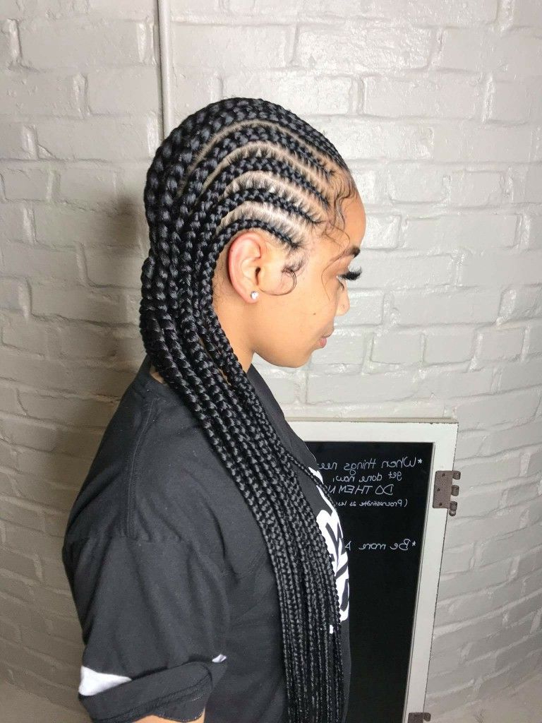 Well Known Straight Backs Braids Hairstyles Intended For Hairrrrrrr 😍 (View 20 of 20)