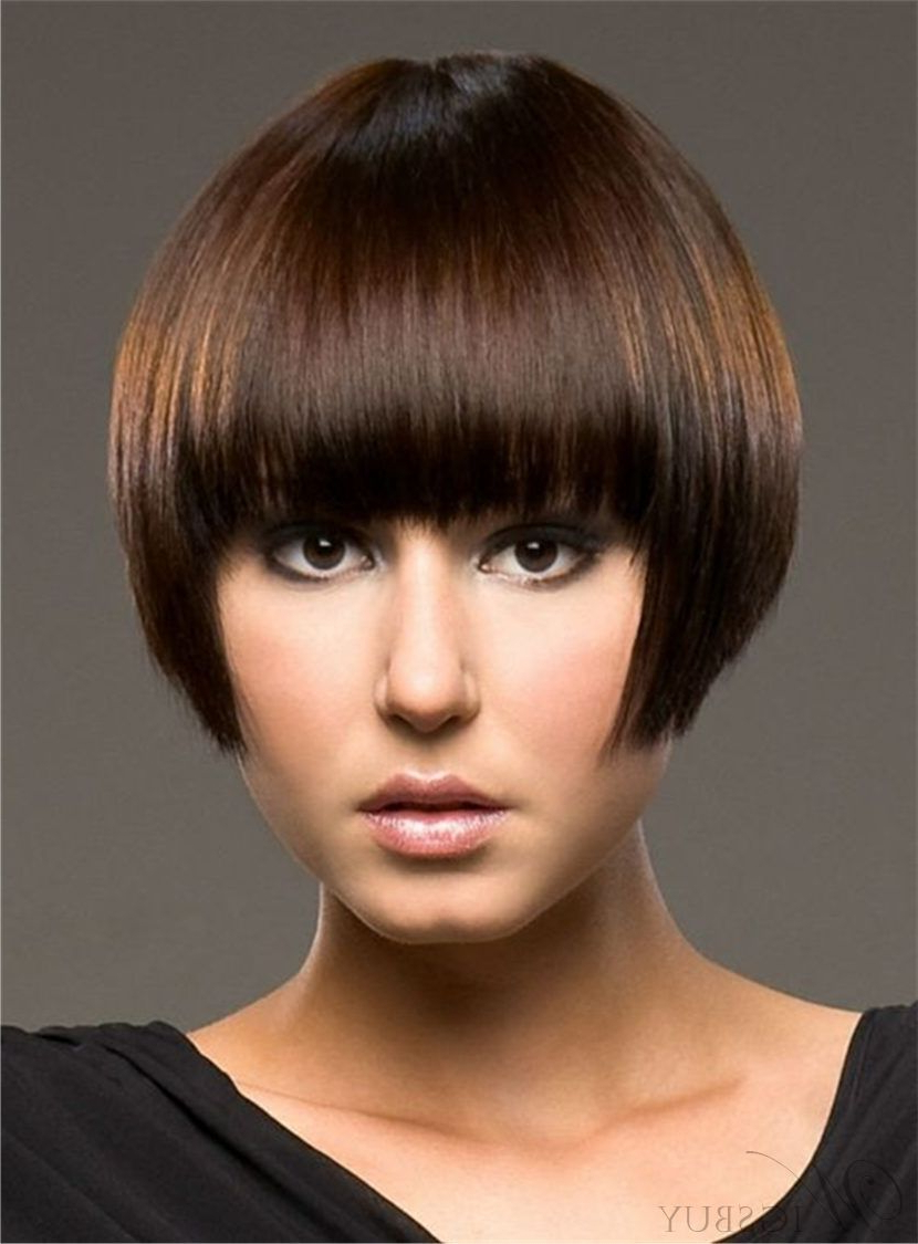 Well Known Youthful Bob Hairstyles Pertaining To Short Youthful Straight Bob Comfortable Human Hair Capless (Gallery 1 of 20)