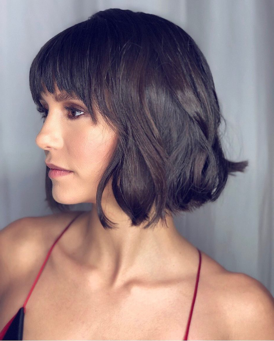 Well Liked Bob Hairstyles With Bangs Throughout Top 10 Low Maintenance Short Bob Cuts For Thick Hair, Short (Gallery 10 of 20)