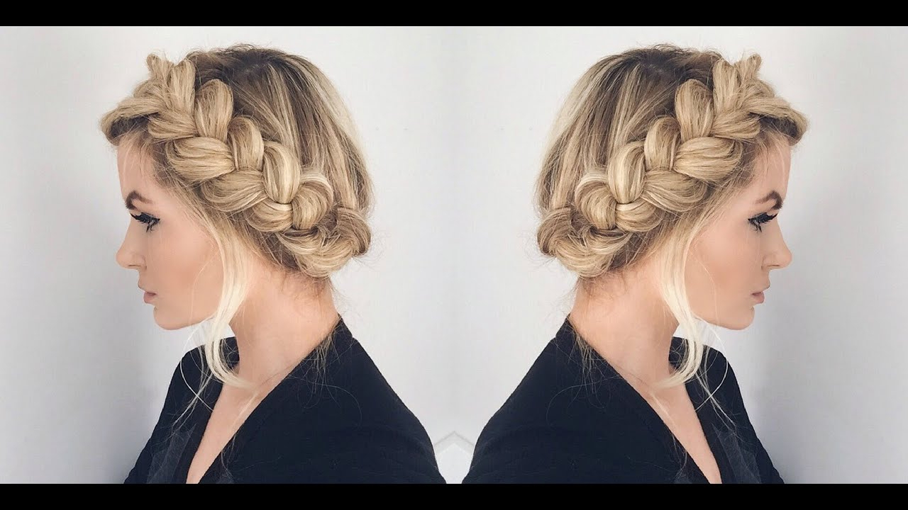 Well Liked Braided Halo Hairstyles Within Tutorial (View 13 of 20)