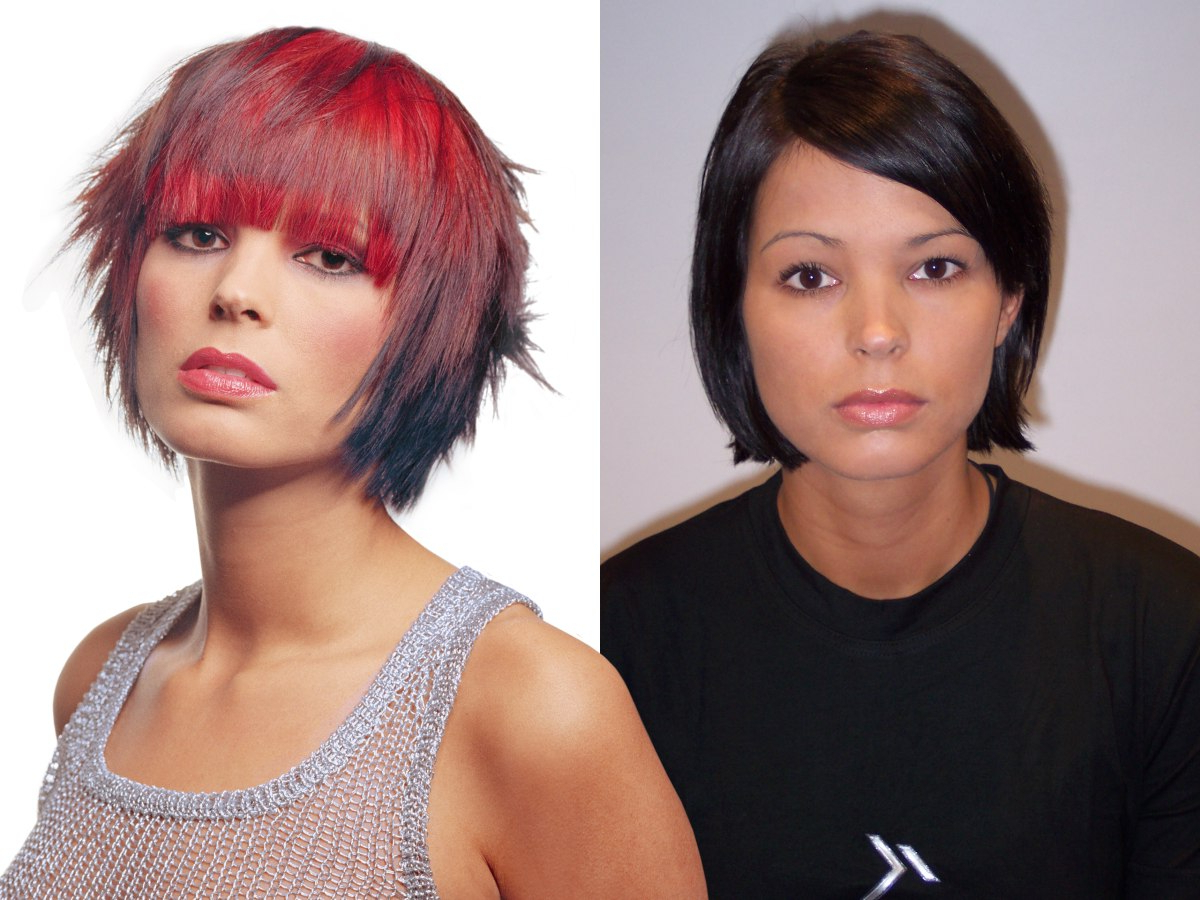 Well Liked Bright Red Bob Hairstyles In Hair Models Who Underwent A Courageous Makeover (Gallery 19 of 20)