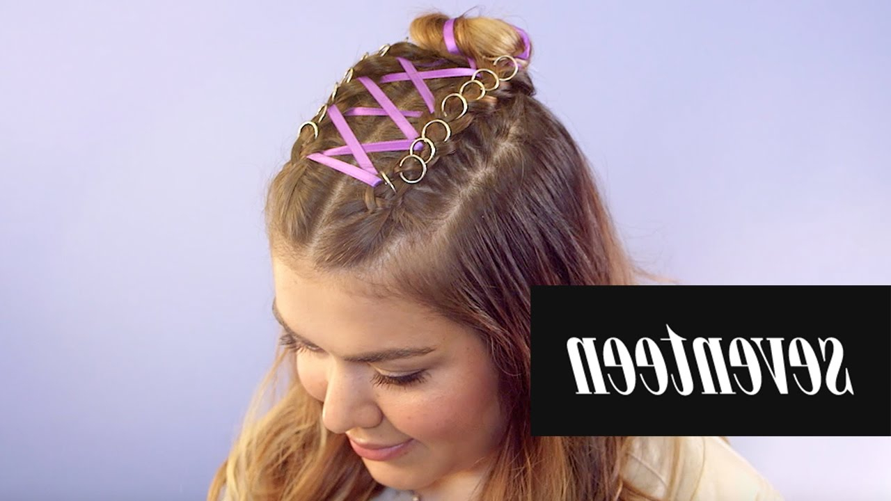 Well Liked Corset Braid Hairstyles Within Unicorn Corset Braid (View 13 of 20)