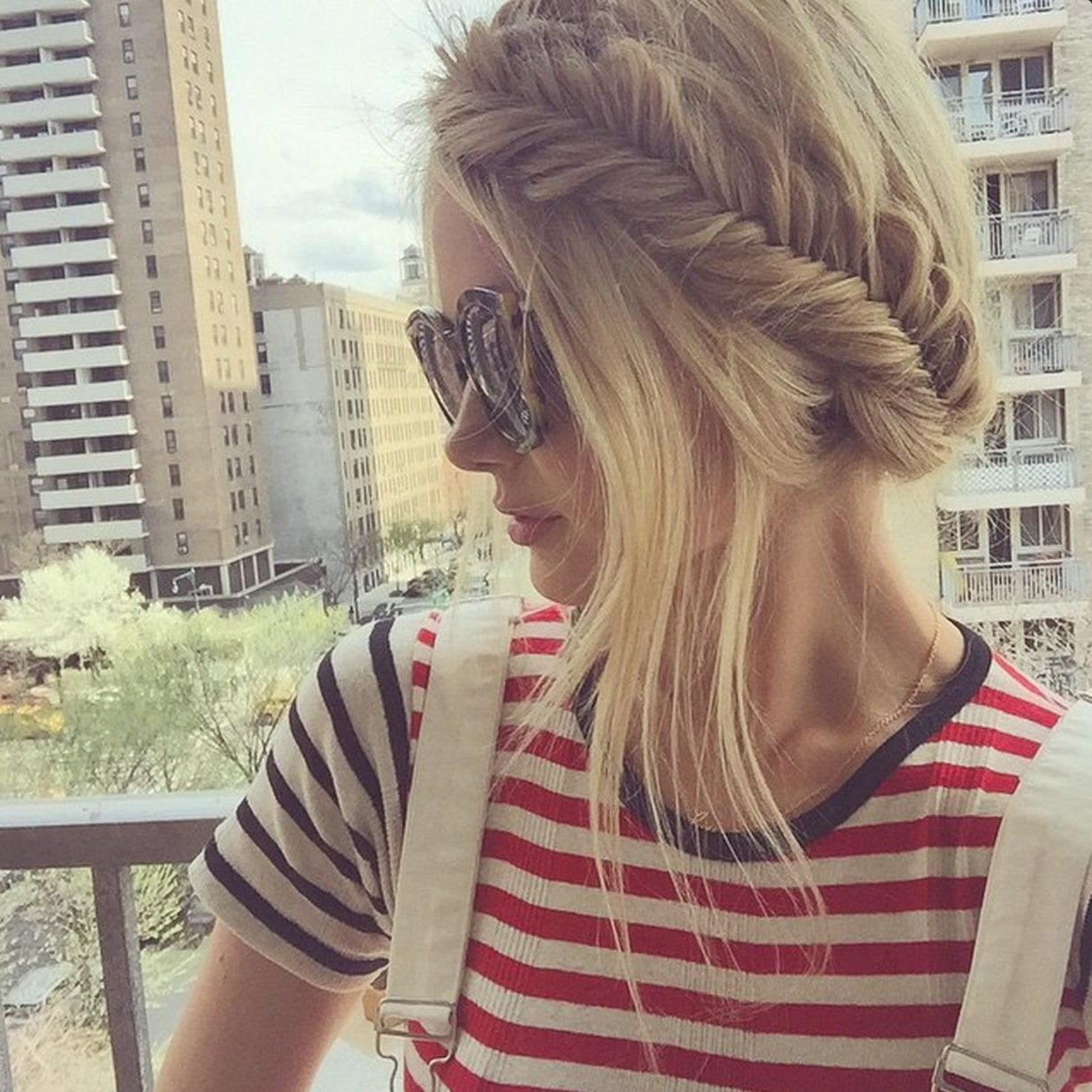 Well Liked Fishtail Crown Braid Hairstyles With My Summer Staple Hairstyle – Barefoot Blondeamber (View 19 of 20)