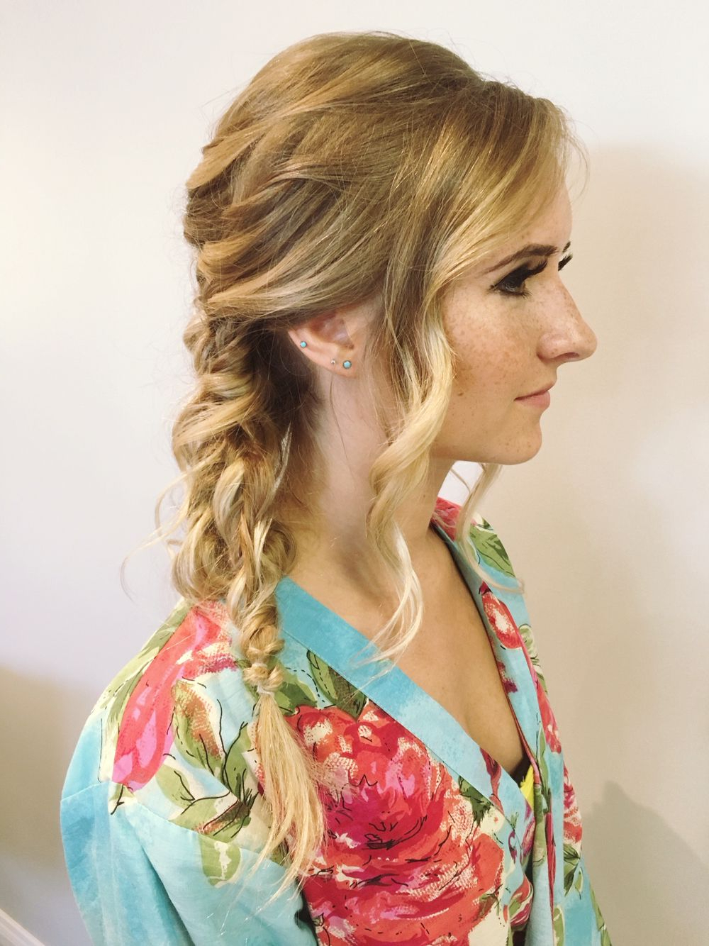 Well Liked Messy Side Fishtail Braid Hairstyles Inside Side Braid Hairstyles. Braided Updo. Fishtail Braid. Messy (Gallery 14 of 20)