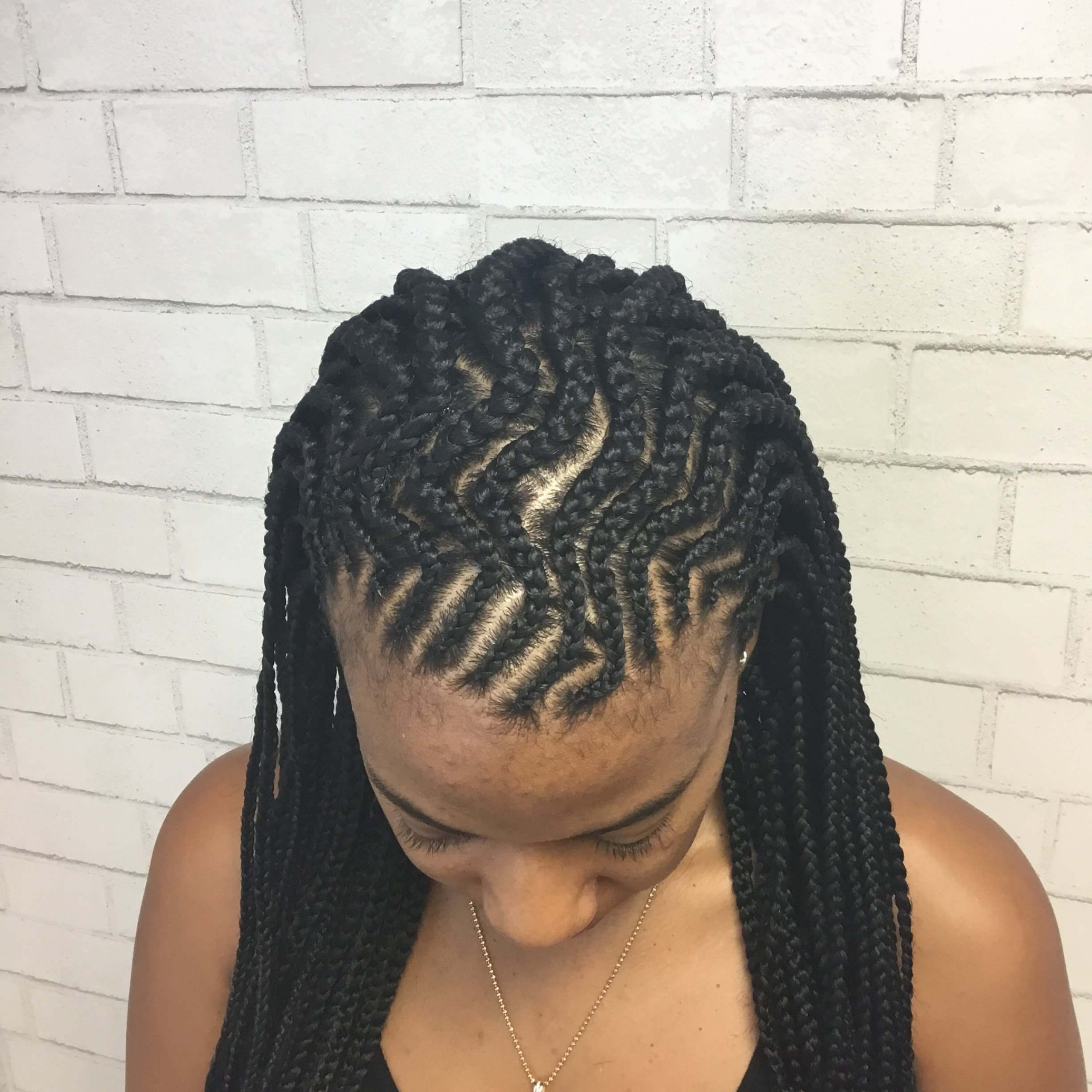 Well Liked Zig Zag Cornrows Hairstyles Regarding 90 Attractive Cornrow Braids Hairstyles (View 13 of 20)