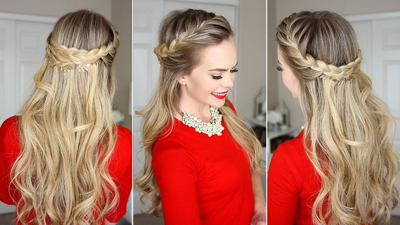 Widely Used Fishtail Crown Braid Hairstyles Regarding French Braid Crown Holiday Hairstyle – Luxy Hair (View 20 of 20)