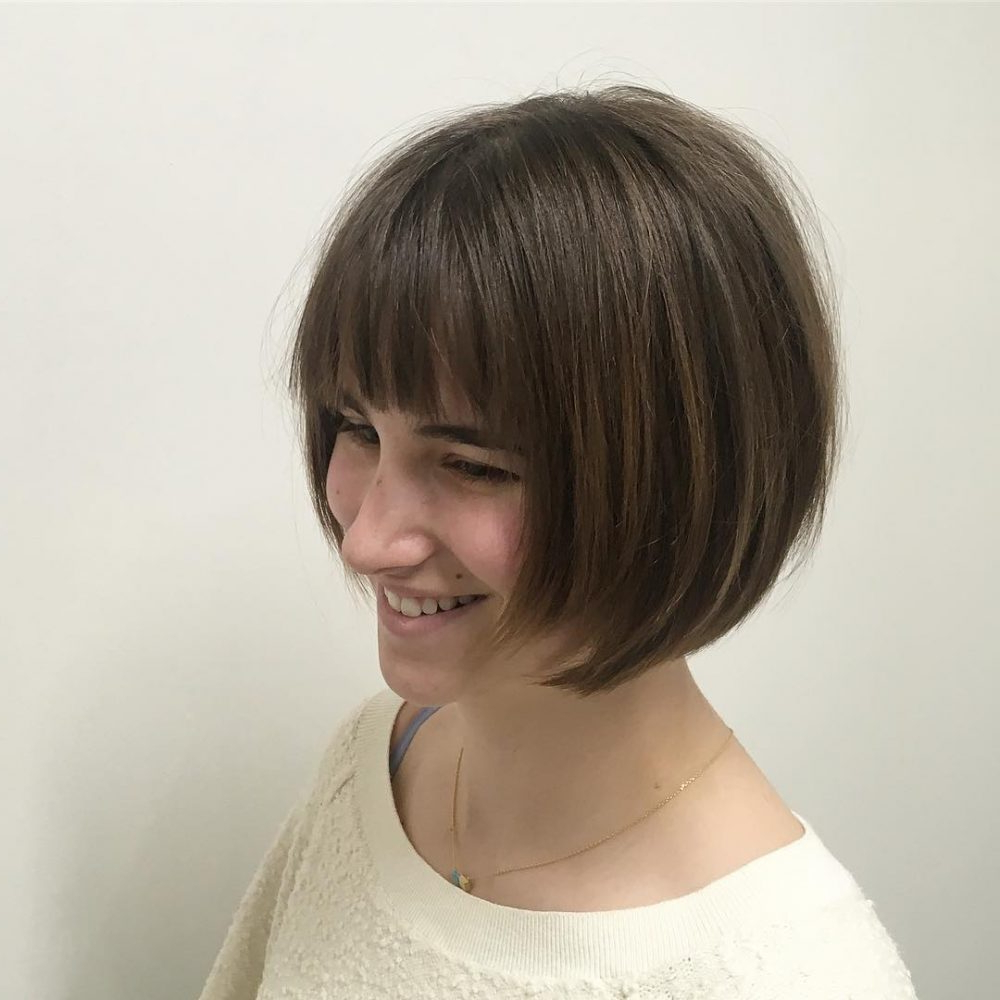 Widely Used Wispy Bob Hairstyles With Long Bangs For 30 Sexiest Wispy Bangs You Need To Try In (View 11 of 20)