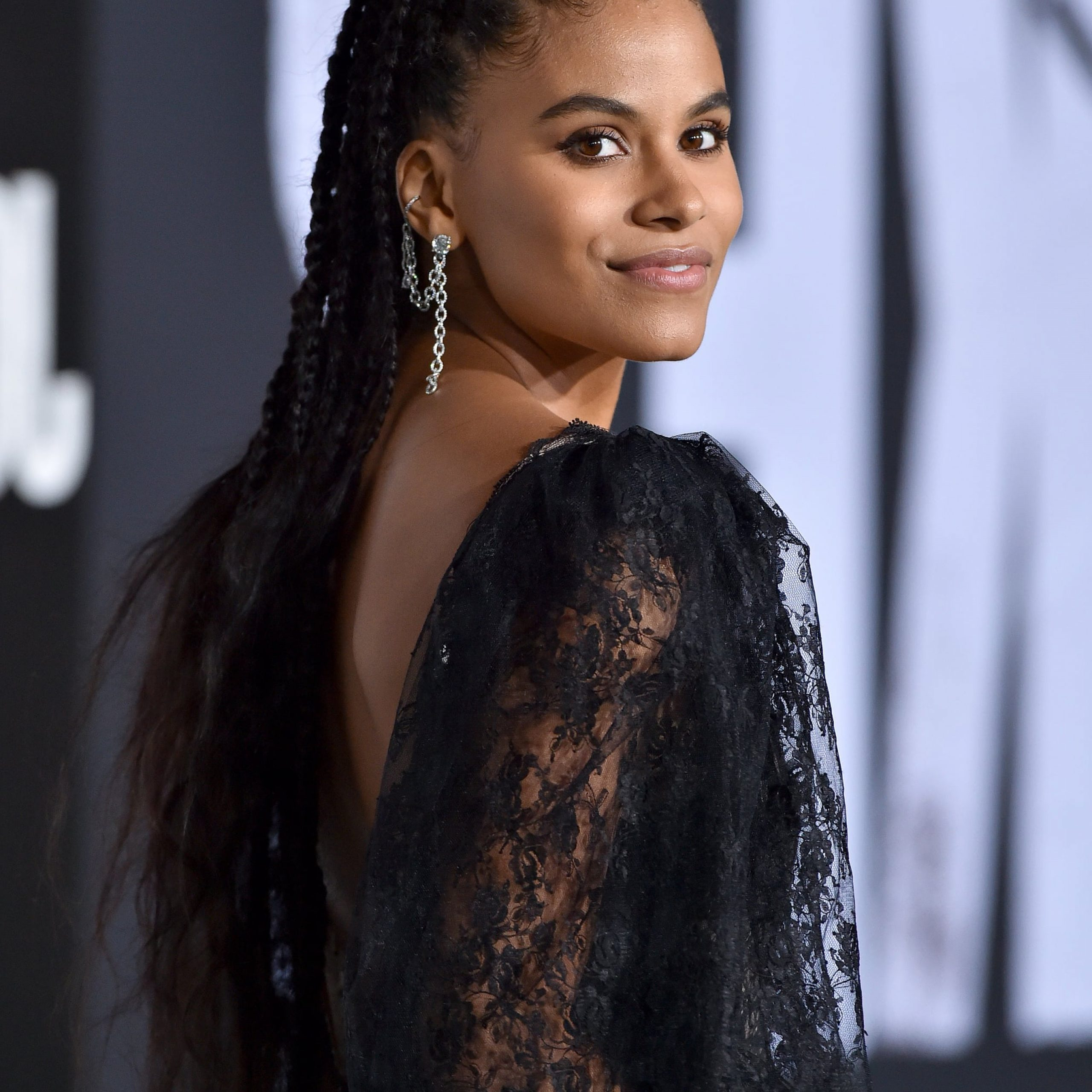 Zazie Beetz's Braided High Ponytail (View 12 of 20)