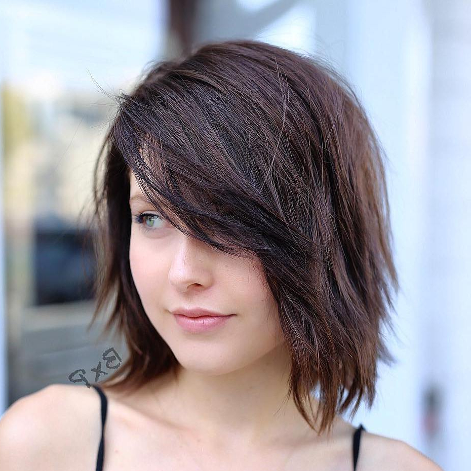 20 Wispy Bangs To Completely Revamp Any Hairstyle Inside 2017 Asymmetrical Parting Feathered Fringe Hairstyles (View 9 of 20)