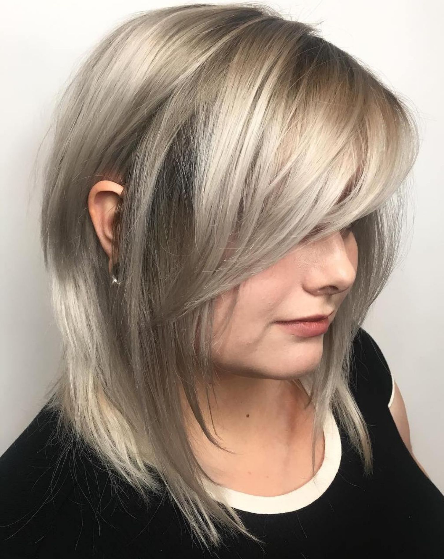 2017 Long Feathered Bangs Hairstyles With Inverted Bob In Pin On Hair (View 6 of 20)
