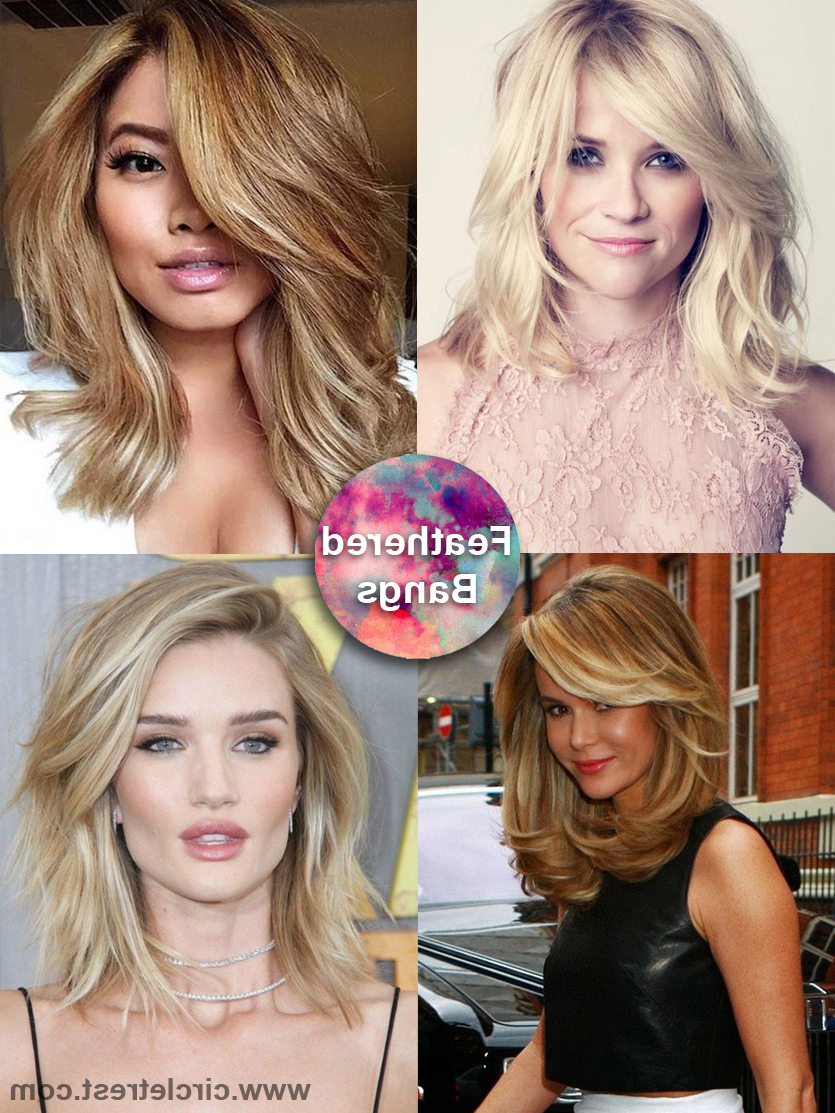 2018 Classy Feathered Bangs Hairstyles Inside 40 Trendy Medium Hairstyles For Women Of All Ages – Circletrest (View 2 of 20)