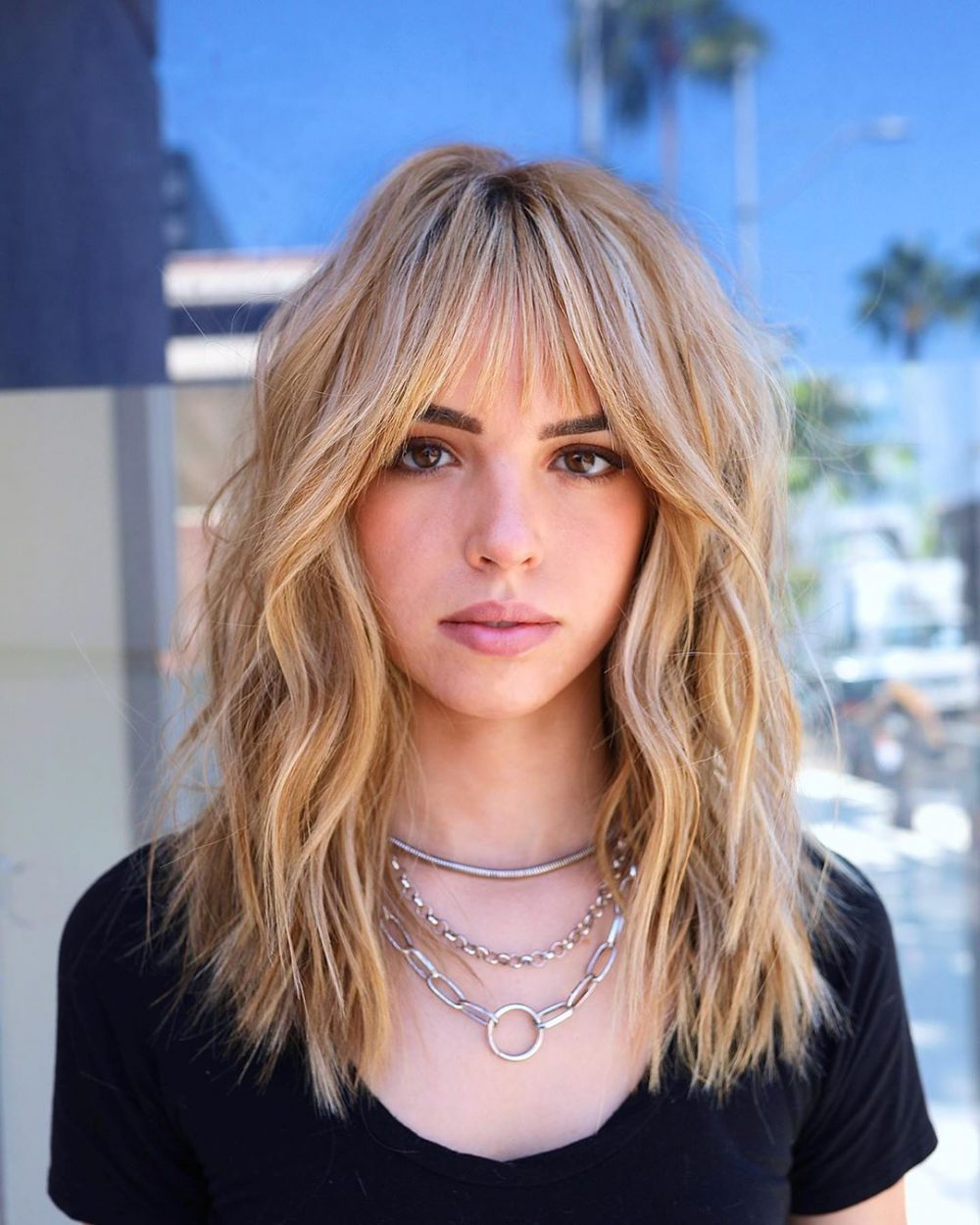 2018 Cool Shag Hairstyles With Feathered Bangs In 61 Chic Medium Shag Haircuts For (View 8 of 20)