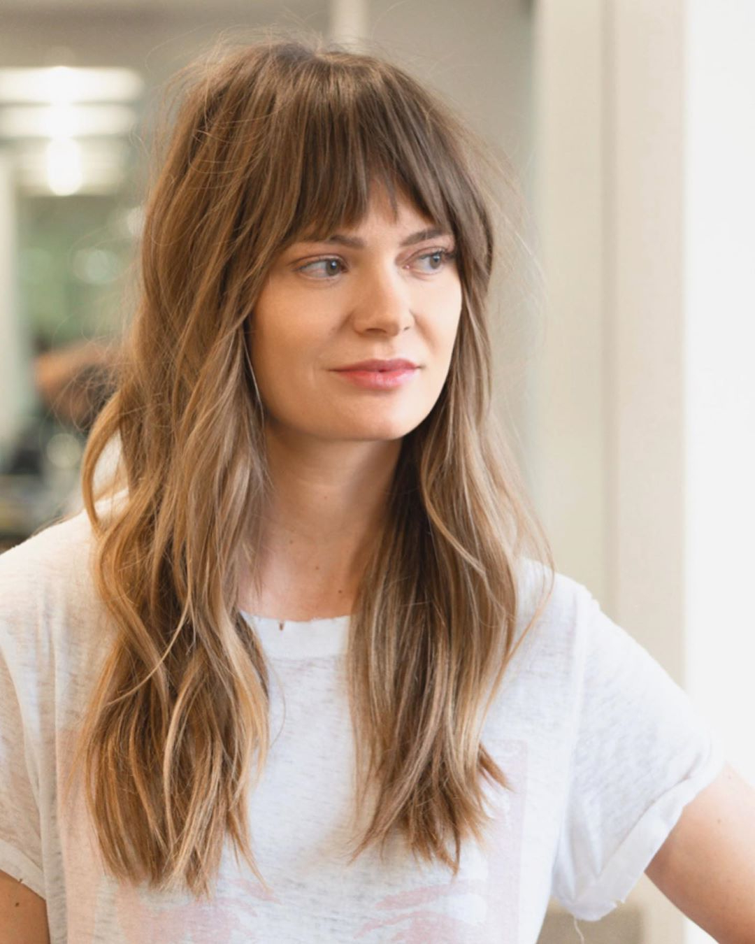23 Perfectly Flattering Long Hairstyles With Bangs (View 12 of 20)