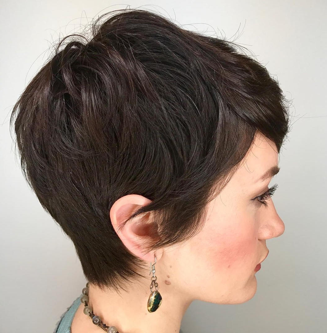 Best And Newest Elegant Feathered Undercut Pixie Hairstyles Regarding 50 Hottest Pixie Cut Hairstyles To Spice Up Your Looks For  (View 7 of 20)