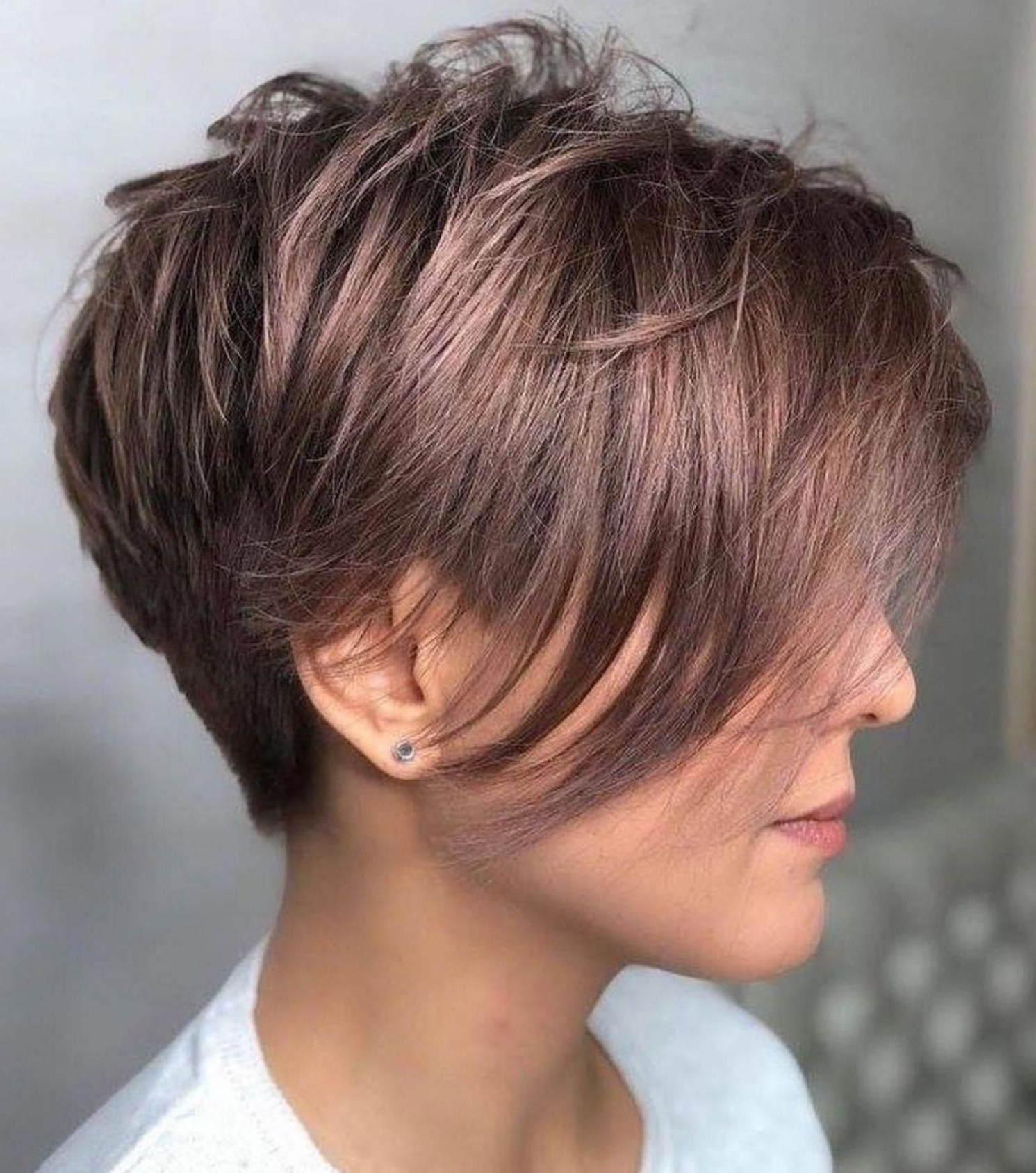Choppy Pixie With Long Feathered Bangs #longpixie In 2020 Within Most Up To Date Feathery Bangs Hairstyles With A Shaggy Pixie (View 4 of 20)