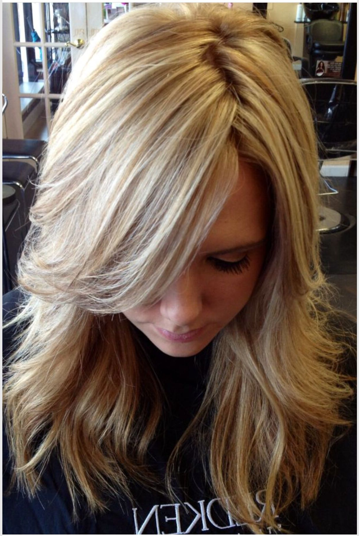 Current Feathered Bangs Hairstyles With Bright Highlights For A Ton Of Highlights, With Paper Thin Lowlights That Blend So (View 5 of 20)