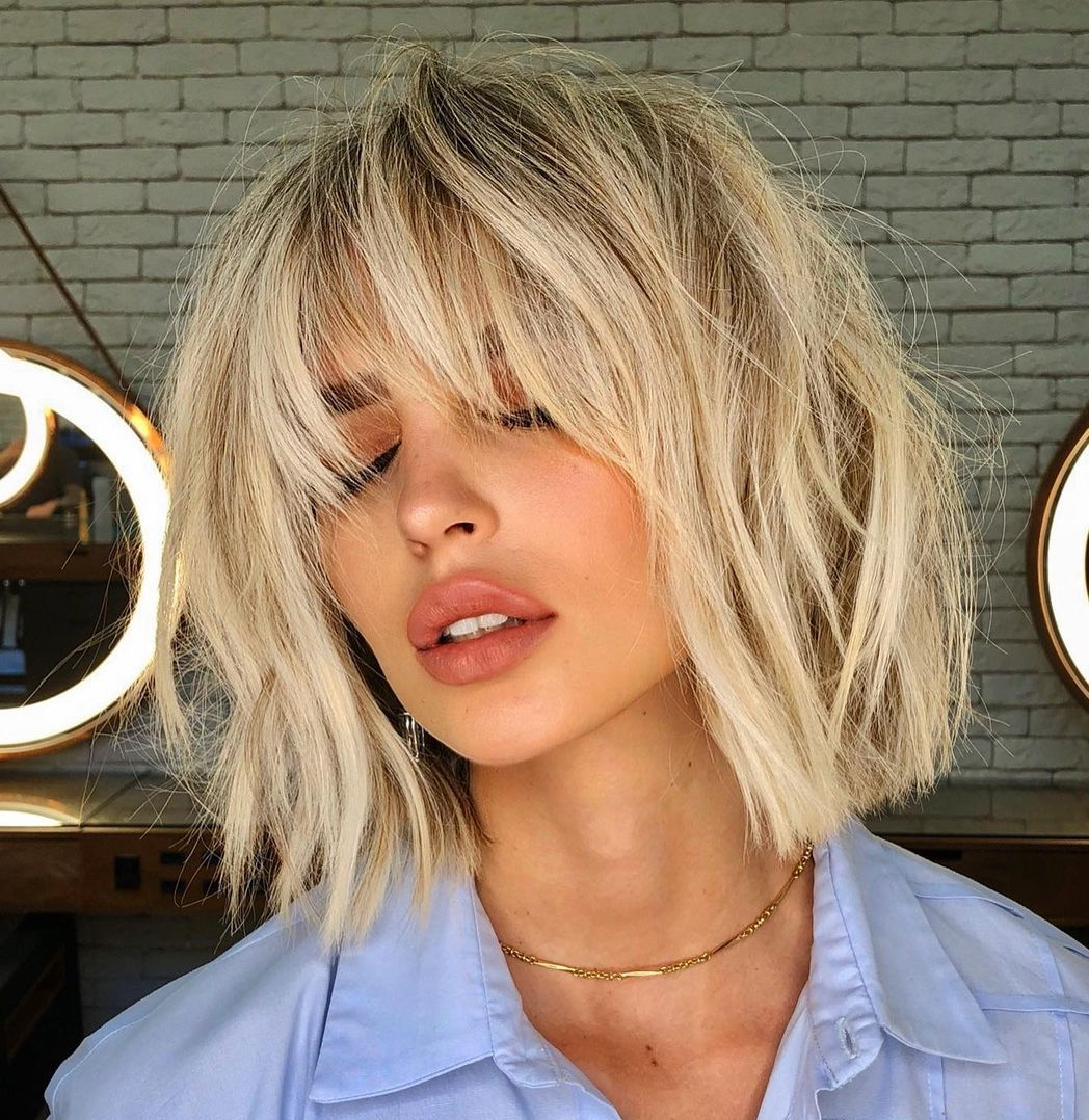 Current Feathery Bangs Hairstyles With A Shaggy Pixie Intended For 20 Perfect Feathered Bangs You Won't Resist Trying (View 9 of 20)