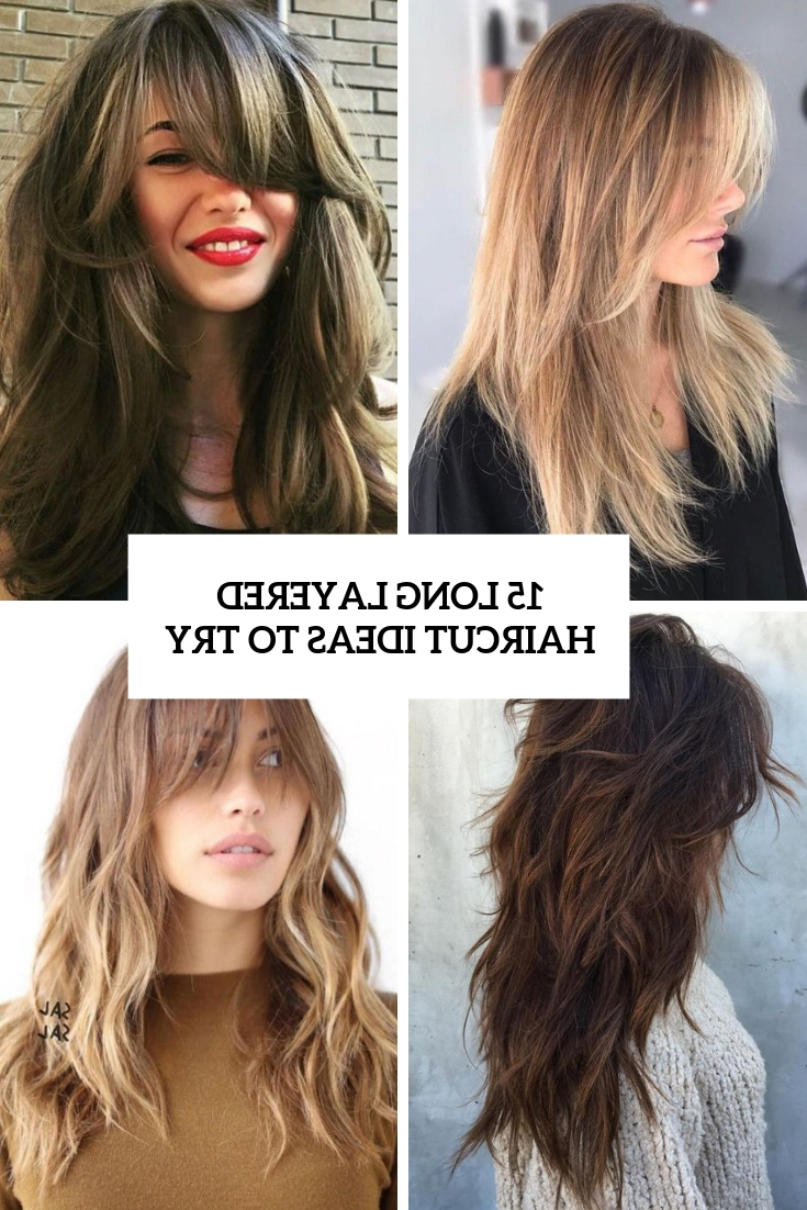 Fashionable Asymmetrical Copper Feathered Bangs Hairstyles Pertaining To 15 Long Layered Haircut Ideas To Try – Styleoholic (View 11 of 20)