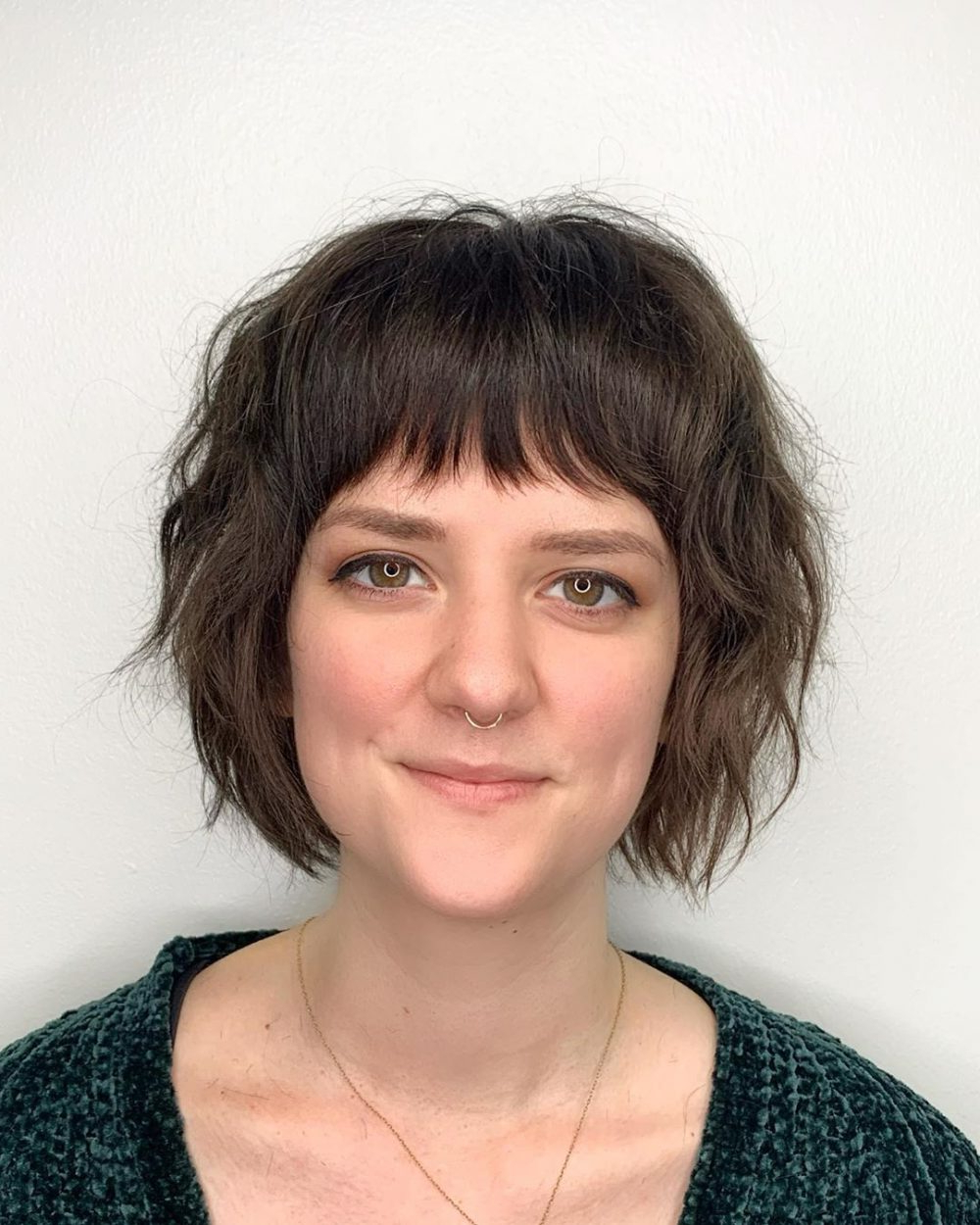 Fashionable Short Layered Bob Hairstyles With Feathered Bangs Regarding 26 Cutest Layered Bob With Bangs For (View 18 of 20)