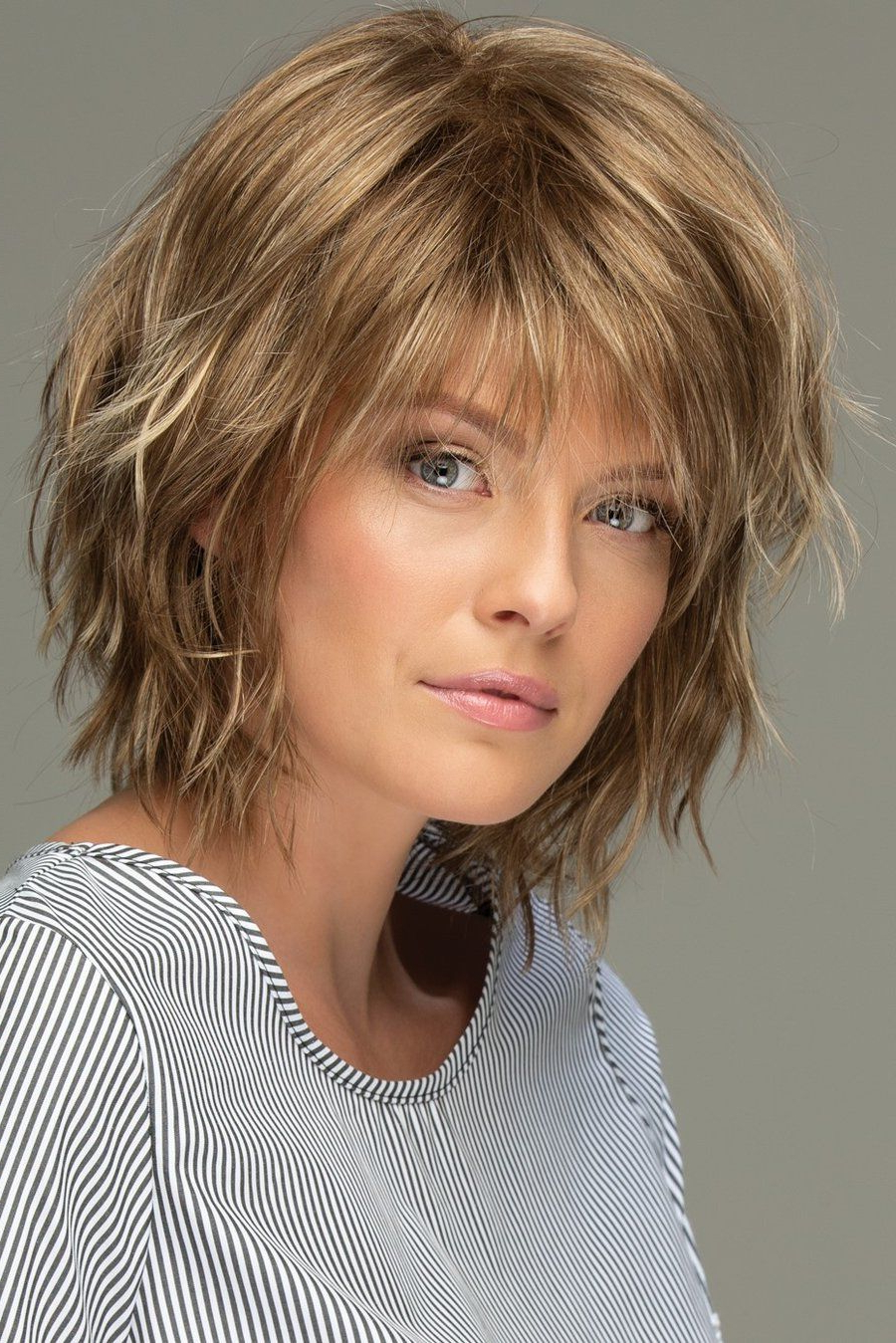 Favorite Choppy Shag Hairstyles With Short Feathered Bangs With Regard To Pin On Hair (View 5 of 20)