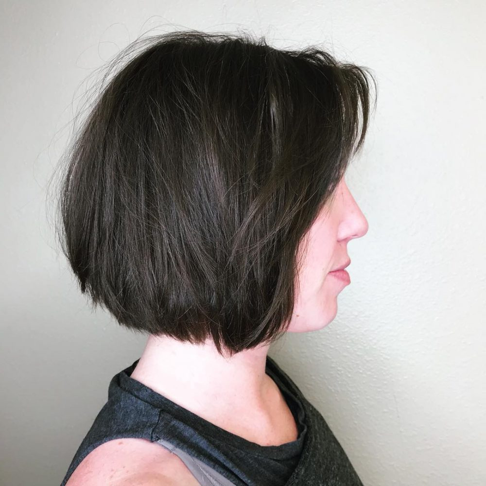 Hairstyles: Short Chin Length Bob Hairstyles Inside Recent Elongated Feathered Bangs Hairstyles With Edgy Mob (View 9 of 20)