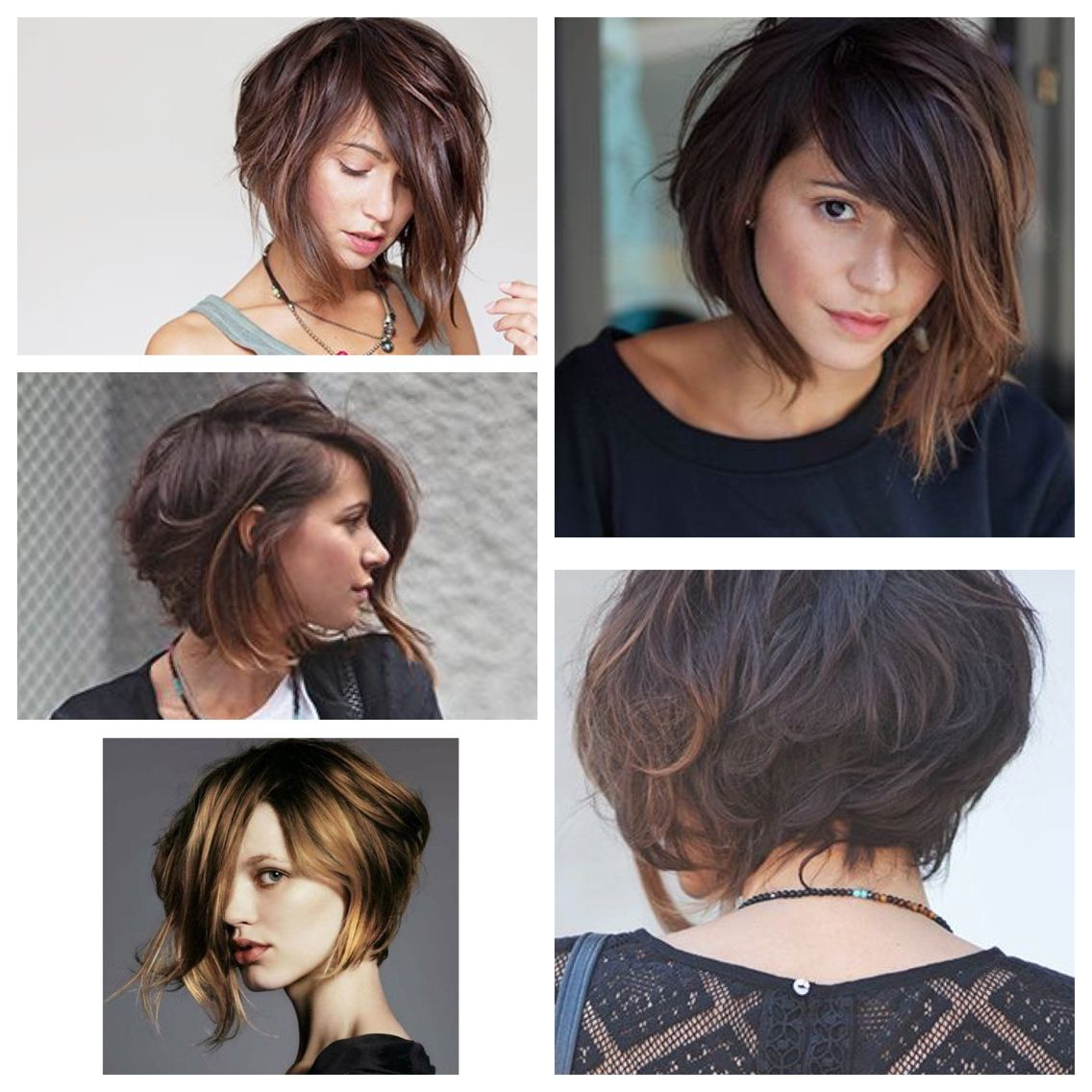 Ideias De Cabelo, Cabelo Curto With Most Current Asymmetrical Feathered Bangs Hairstyles With Short Hair (View 2 of 20)