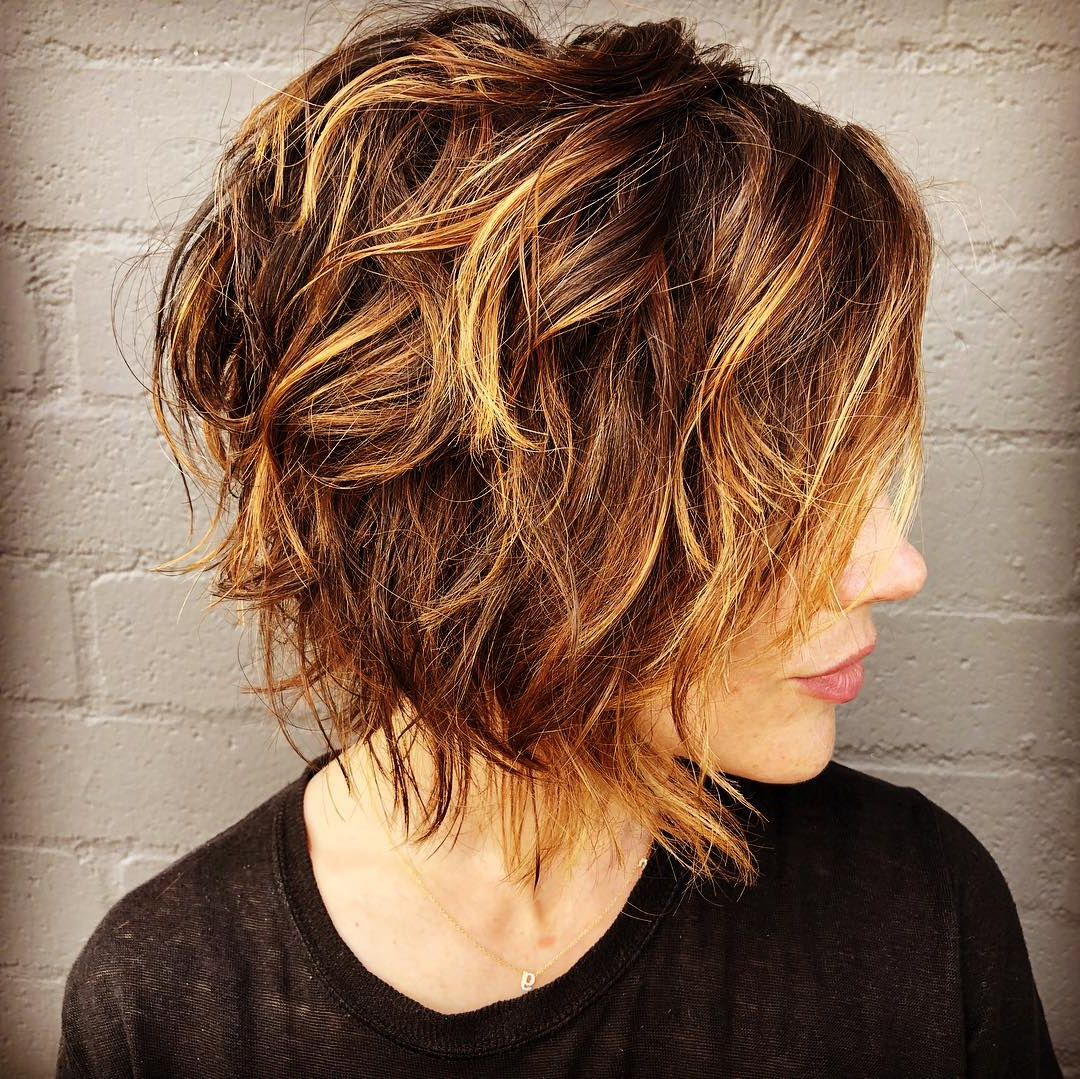 Latest Choppy Shag Hairstyles With Short Feathered Bangs Regarding 25 Badass Short Shag Haircuts That Will Be Everywhere In (View 15 of 20)