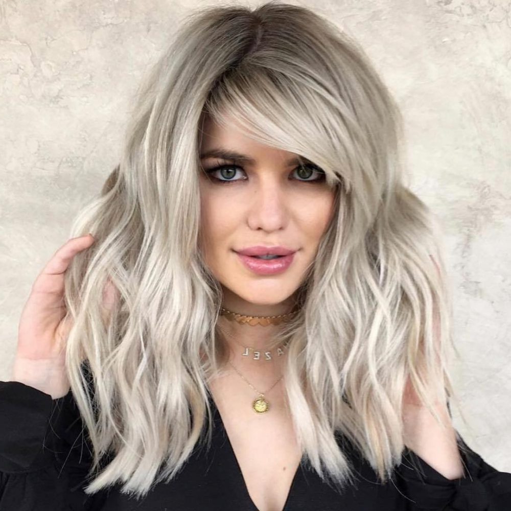 Latest Side Swept Feathered Bangs Hairstyles Throughout The Top 20 Flattering Side Bangs Hairstyles Trending In (View 5 of 20)