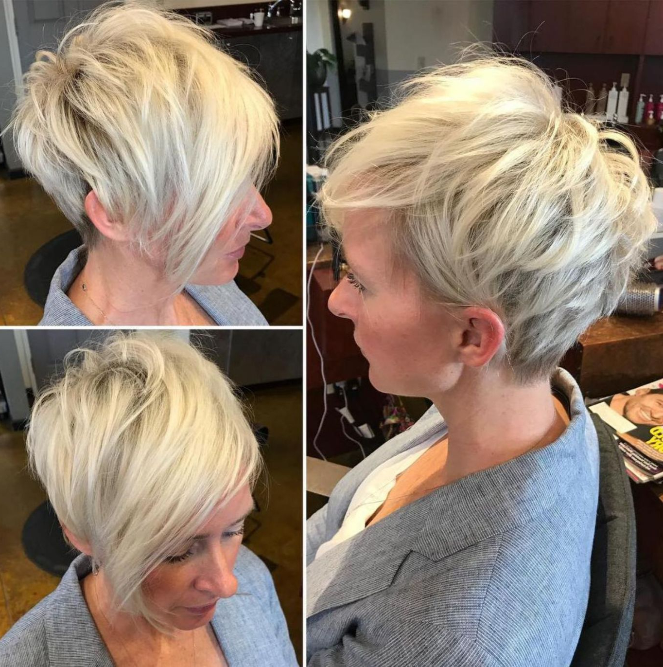 Featured Photo of Feathery Bangs Hairstyles With A Shaggy Pixie
