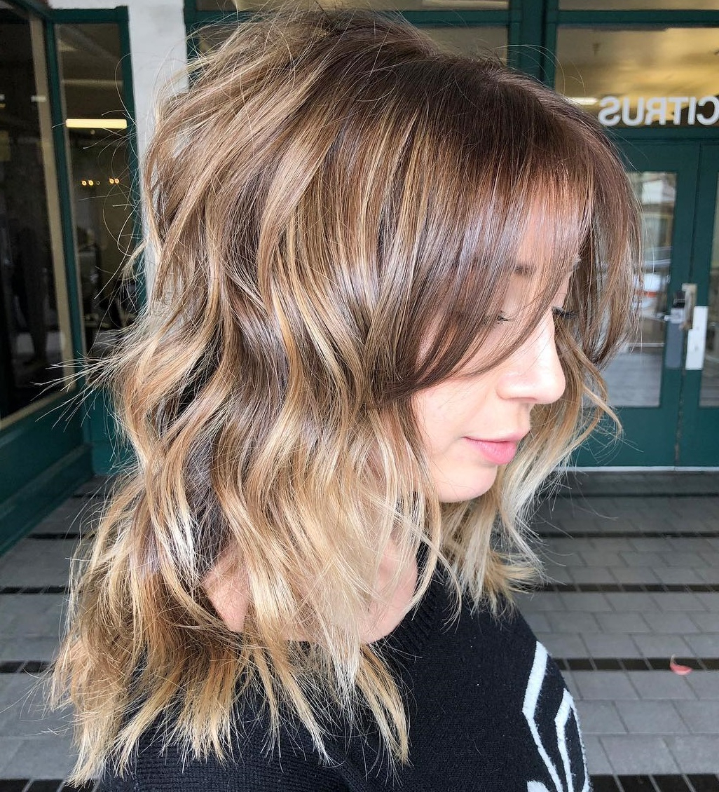 Most Popular Dynamic Layered Feathered Bangs Hairstyles Pertaining To 25 Must Try Medium Length Layered Haircuts For (View 9 of 20)