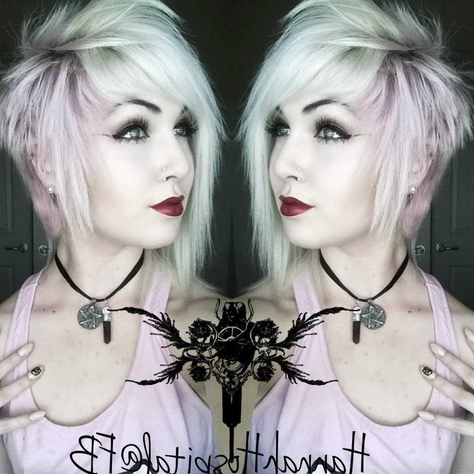 Most Recent Asymmetrical Feathered Bangs Hairstyles With Short Hair With How I Style My Short Alternative Hair (emo/scene/goth/punk (View 9 of 20)