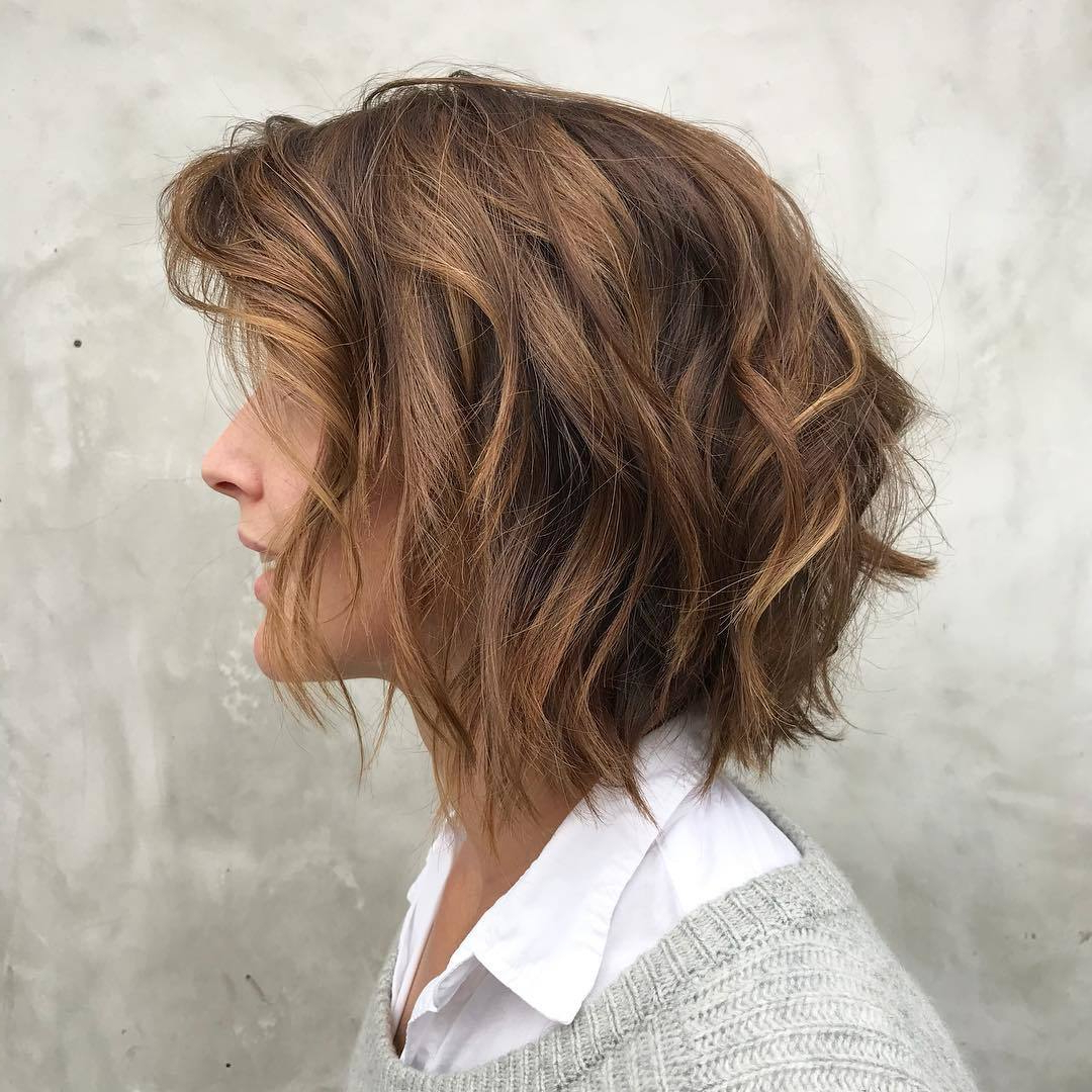 Most Recently Released Feathered Bangs Hairstyles With A Textured Bob Pertaining To 32 Layered Bob Hairstyles To Inspire Your Next Haircut In (View 9 of 20)