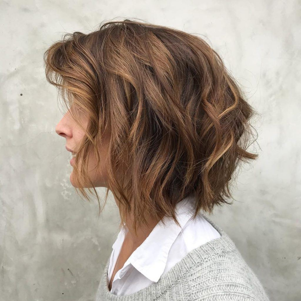 Most Up To Date Asymmetrical Copper Feathered Bangs Hairstyles Inside 32 Layered Bob Hairstyles To Inspire Your Next Haircut In (View 12 of 20)