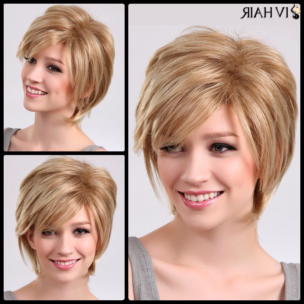 Pin On Coiffures For Current Oblique Feathered Bangs And A Pixie Cut Hairstyles (View 4 of 20)