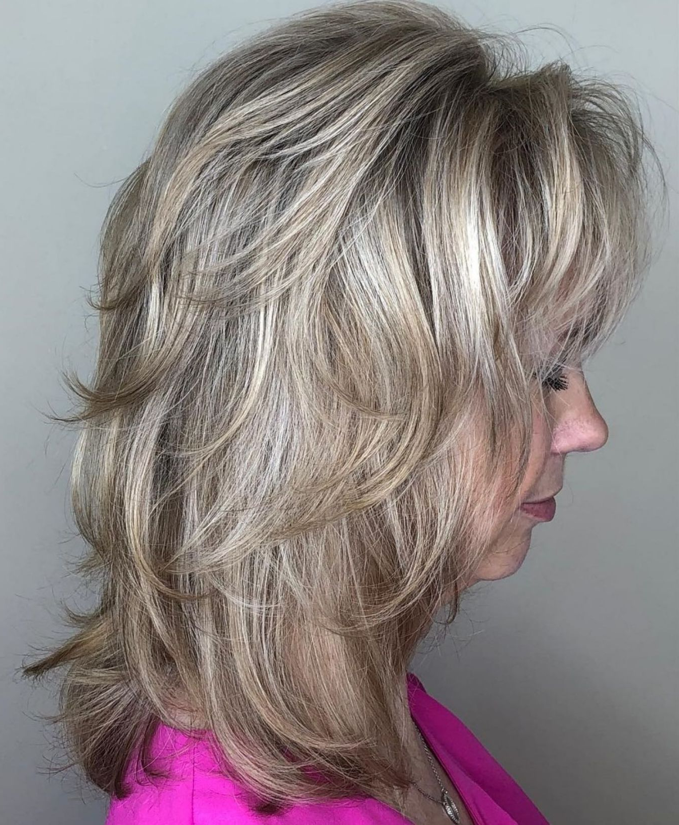 Pin On Hair With Famous Cool Shag Hairstyles With Feathered Bangs (View 11 of 20)