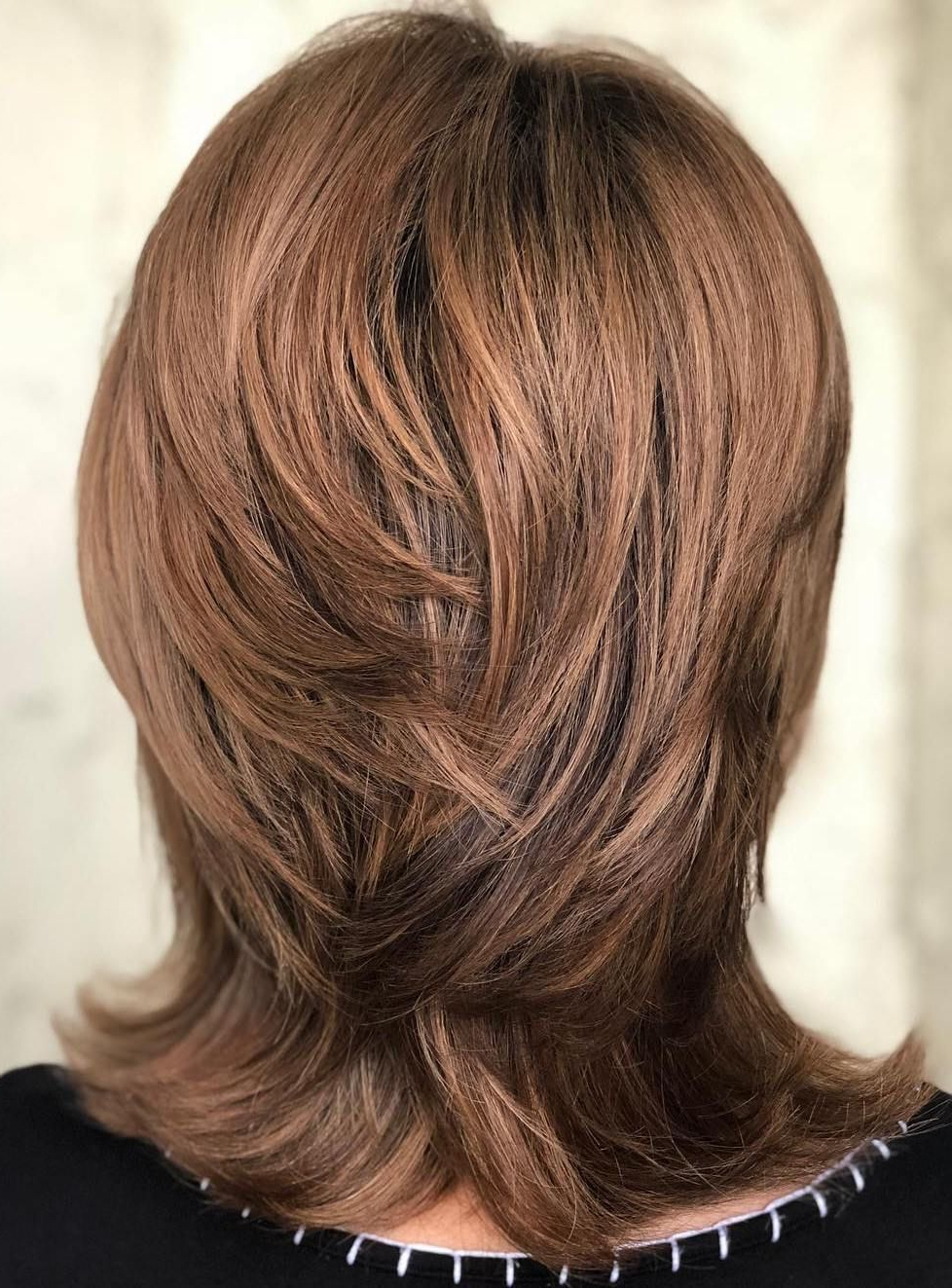 Pin On Haircuts Regarding Preferred Long Feather Cut Bangs Hairstyles With Flipped Ends (View 10 of 20)