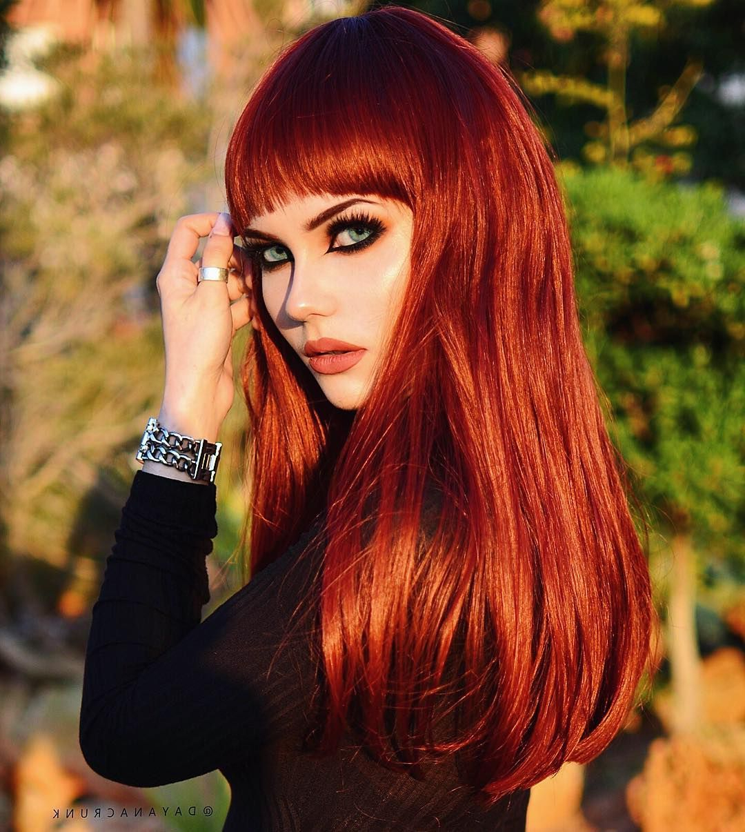 Preferred Asymmetrical Copper Feathered Bangs Hairstyles In (View 10 of 20)
