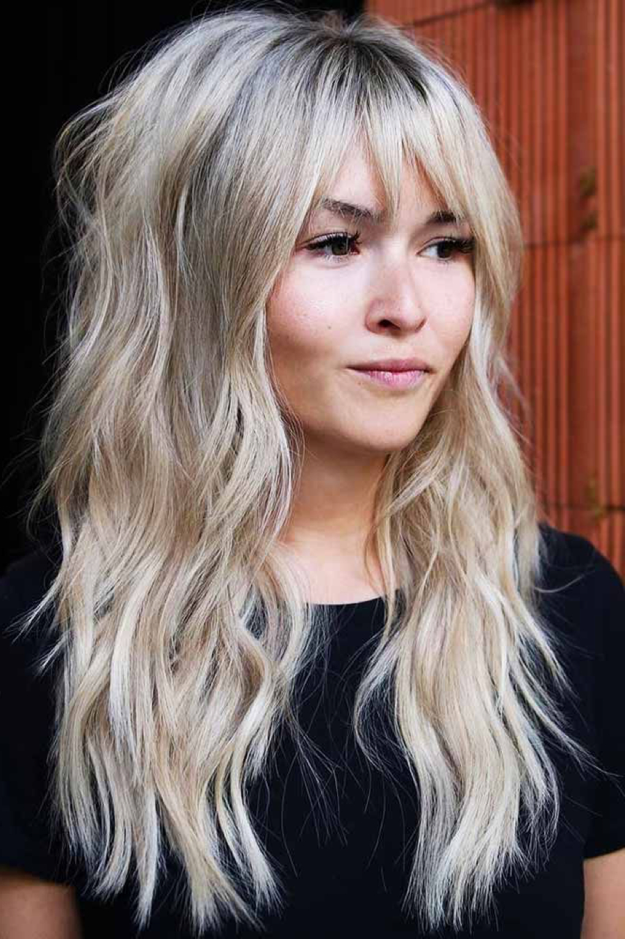 Recent Dynamic Layered Feathered Bangs Hairstyles Regarding Long Hairstyles For Women In  (View 17 of 20)