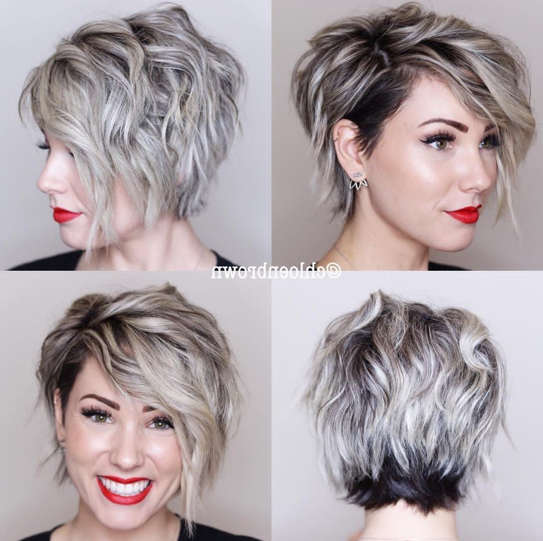 Short Hair Styles, Prom In Most Up To Date Asymmetrical Feathered Bangs Hairstyles With Short Hair (View 3 of 20)
