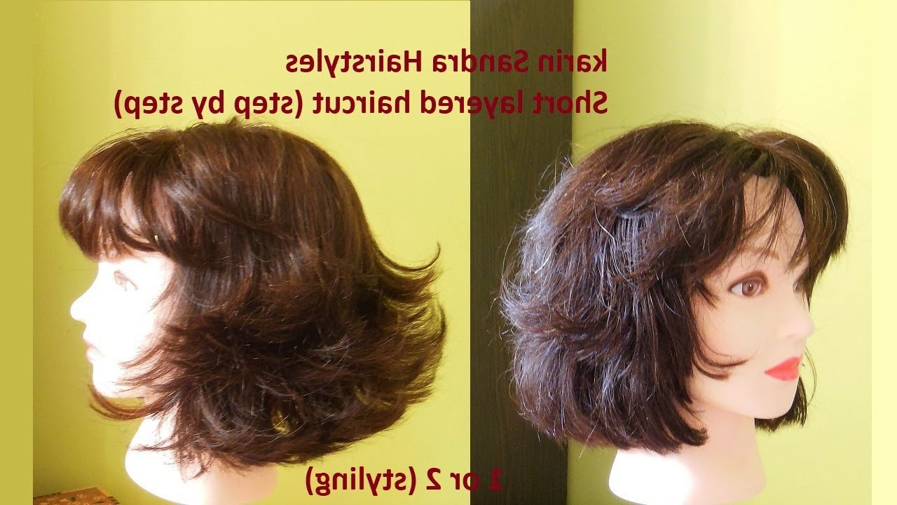 Short Haircut Tutorial Inside Popular Short Layered Bob Hairstyles With Feathered Bangs (View 16 of 20)