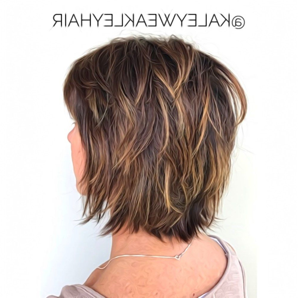 Featured Photo of Choppy Shag Hairstyles With Short Feathered Bangs