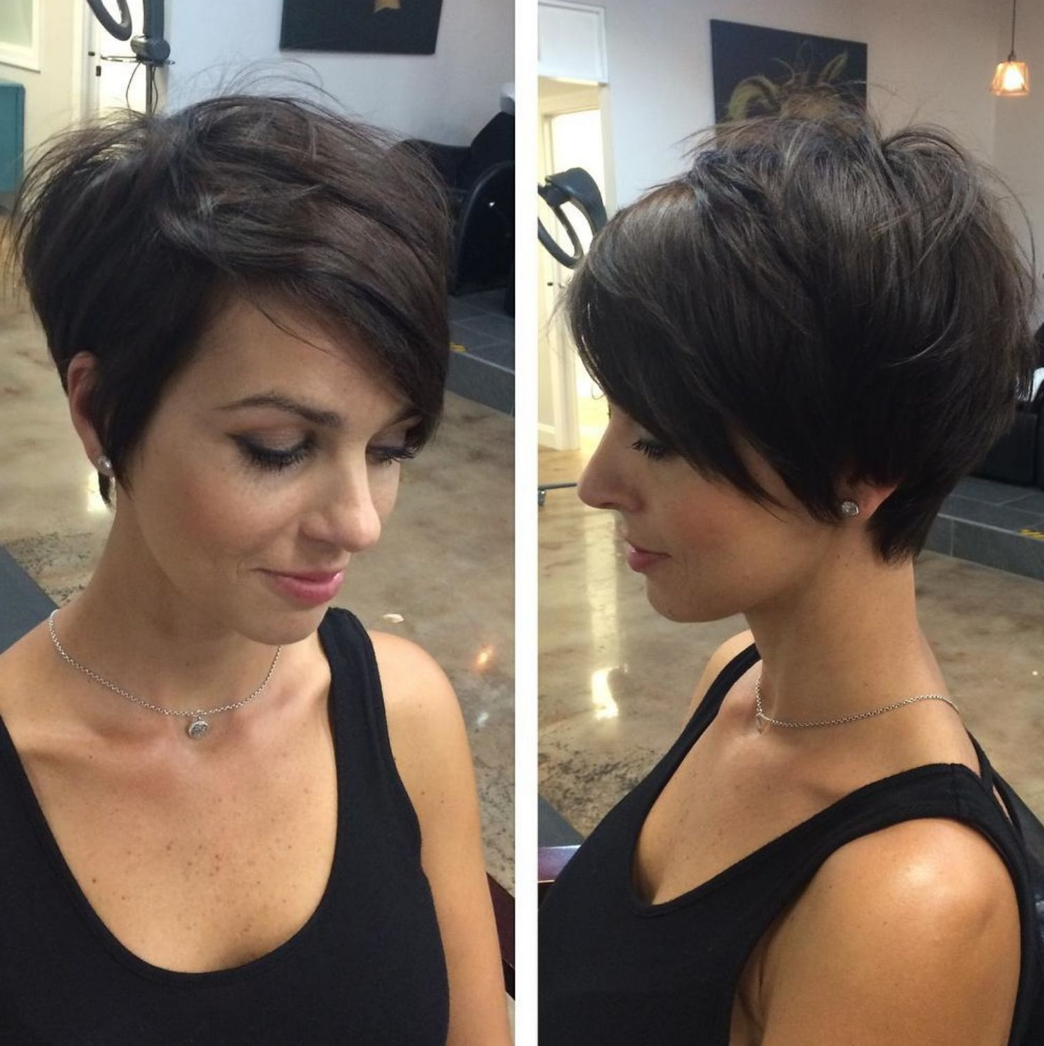 Trendy Feathery Bangs Hairstyles With A Shaggy Pixie Pertaining To Pin On Hair (View 3 of 20)