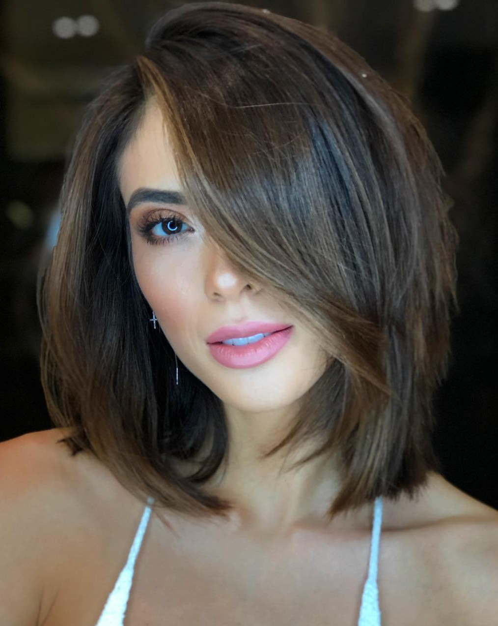 Widely Used Asymmetrical Parting Feathered Fringe Hairstyles Pertaining To 35 Stunning Ways To Wear Long Bob Haircuts In (View 16 of 20)