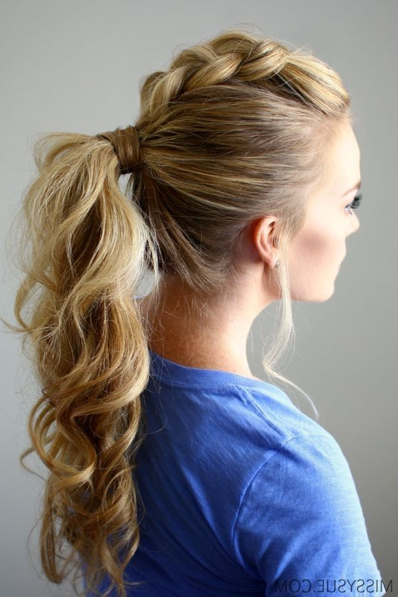 10 Easy Ponytail Hairstyles 2020 Within Most Current Braid Tied Updo Hairstyles (View 12 of 20)