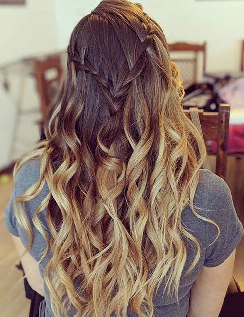 10 Waterfall Braid Hairstyles For Most Up To Date The Waterfall Braid Hairstyles (View 8 of 20)