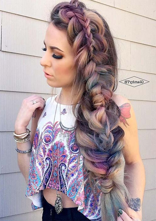100 Ridiculously Awesome Braided Hairstyles To Inspire You Regarding Well Known Loose Pancaked Side Braid Hairstyles (View 5 of 20)